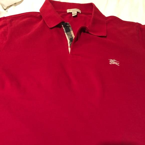 f8004a2e5 Burberry Shirts | Authentic Polo Red | Poshmark